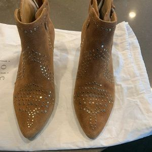 Joie Bickson suede studded booties 6.5
